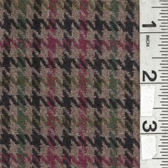 Taupe Multi Plaid Wool Coating - Fabric By The Yard