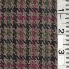 Taupe Multi Plaid Wool Coating