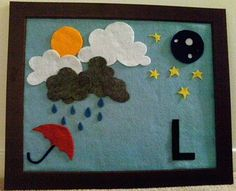 Felt weather board- fun daily activity to think about weather. Toddler Preschool, Preschool Activities, Felt Crafts, Diy And Crafts, Baby Crafts, Diy For Kids, Crafts For Kids, Felt Games, Felt Board Stories
