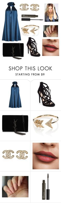 """delphine b"" by lyra-cartwheel ❤ liked on Polyvore featuring Galvan, Jessica Simpson, Yves Saint Laurent, EF Collection, Chanel and NYX"