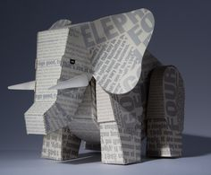 Paper animals made for The New York Times - Week in Review, by Carlo Giovani.