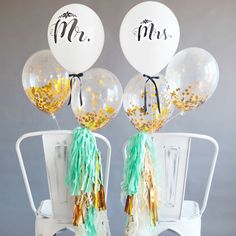 MR. and MRS. Wedding Balloons