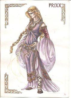 Frigg es una de las diosas mayores, esposa de Odín, reina de los Æsir y diosa del cielo. Es la diosa de la fertilidad, el amor, el manejo del hogar, el matrimonio, la maternidad y las artes domésticas. En las Eddas se la menciona como una de las diosas principales, junto a Freyja.