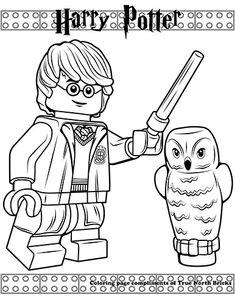 Coloring Page - Harry Potter - True North Bricks Lego Harry Potter, Harry Potter Colors, Harry Potter Birthday, Lego Coloring Pages, Disney Coloring Pages, Animal Coloring Pages, Coloring For Kids, Coloring Books, Legos