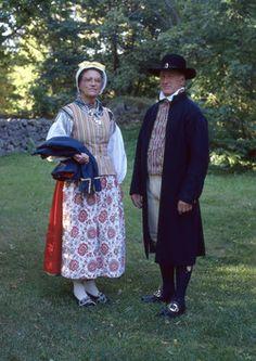 Västbodräkt - Småland Folk Costume, Costumes, Maila, Daily Dress, Traditional Outfits, Sweden, Scandinavian, Little Girls, Museum