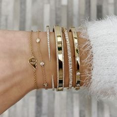 Gold Bracelet For Women, Gold Bangle Bracelet, Gold Bangles, Cartier Love Bracelet, 14k Gold Jewelry, Solid Gold Jewelry, Diamond Jewelry, Antique Jewellery, Diamond Bracelets