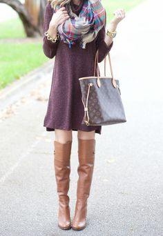 SWEATER DRESS AND BLANKET SCARF: A Spoonful of Style waysify