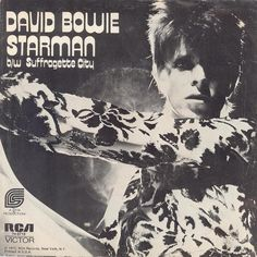Starman / Sufraguette City single cover, by David Bowie (Ziggy Stardust & The Spiders From Mars)
