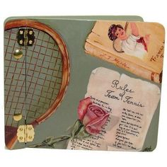 Lexington Studios Sports Rules of Tennis Mini Book Photo Album #tennisrules #LearnAboutTennis