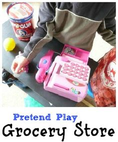 pretend play, don't forget to add coupons, name tags, purses, wallets, etc