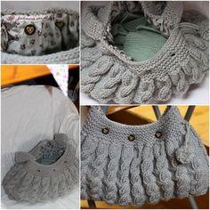 Sac à tricots en tricot