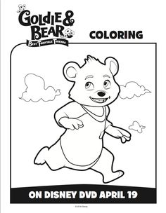Goldie and Bear Coloring pages 3