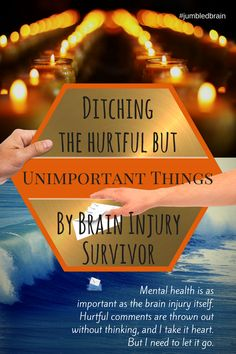 Mental health and brain injury go hand in hand. Hurtful comments are thrown out without thinking, and I take it to heart. Brain Injury Recovery, Brain Injury Awareness, Stroke Recovery, Tramatic Brain Injury, Post Concussion Syndrome, Subarachnoid Hemorrhage, Brain Aneurysm, Brain Health, Mental Health