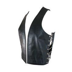 1stdibs.com   1990's RoB Men's black leather & chains fetish vest/waistcoat - AU130512306564