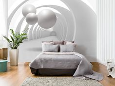 New wallpaper murals for bedroom 2019 Amazing wallpaper murals for the bedroom in modern homes, The types of these wallpaper designs, how to use them and how to apply wallpaper for bedroom interior Wallpaper World, 3d Wallpaper Design, 3d Wallpaper For Bedroom, 3d Wallpaper For Walls, Home Wallpaper, Bedroom Murals, Colorful Interior Design, Small Living Rooms, Fashion Room