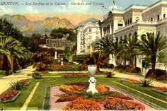 Old Postcard, Menton, Casino
