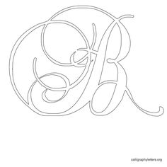 Free Printable Calligraphy Letter Stencils to print.