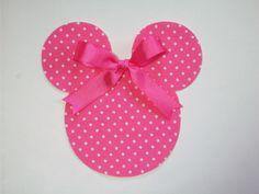 DIY No-Sew Minnie Mouse Applique - Iron On. $2.25, via Etsy.