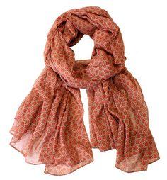 Scarves - Honeycomb - rust