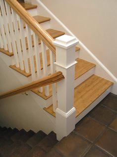 We definitely have to do the stairs and upstairs landing, too!!! This is great. Consider new handrail, too