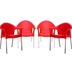 Buy Nilkamal Premium Chair SS Set of 04 (Red) By Homegenic by undefined, on Paytm, Price: Rs.7340?utm_medium=pintrest
