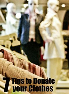 Tips for donating clothes when you declutter. Great for those doing Kon Mari or anyone dealing with clothing organization.