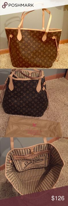 Never full loui tote Never used! Not scratches or damages. It is a new bag so needs a little breaking in. Bags Totes