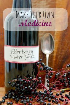 Elderberry Winter Tonic– Make your own medicine!
