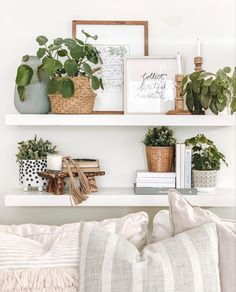 Decorating your shelves can be intimidating but with my method you can create beautifully styled shelves everytime. #shelfdecorating #shelfdecorlivingroom #shelfiesunday #homedecortips Decoration Bedroom, Room Decor Bedroom, Diy Home Decor, Living Room Shelf Decor, Bedroom Ideas, Wall Shelf Decor, Bedroom Designs, Living Room Shelving, Ikea Wall Decor