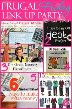 Frugal Friday Link Up Party - Check out some killer content and drop your own links while you're there! Anything mom-oriented, rated G is just fine. DIY, recipes, frugal living, organizing, home, etc.