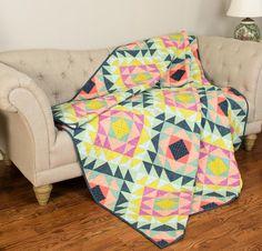 Prairie Diamonds Quilt Kit by One Canoe Two featuring Moda Tucker Prairie Fabric | Craftsy