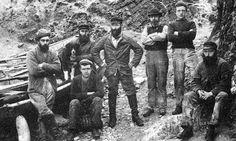 Tour Scotland Photographs: Old Photograph Fishermen Fair Isle Scotland
