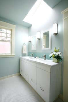Image result for vanity for long narrow bathroom
