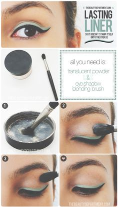 Eyeliner saver: If you have oily eyelids, prevent liner from 'stamping' itself just above the crease with a sweep of translucent powder