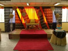 Yoruba traditional wedding stage setup