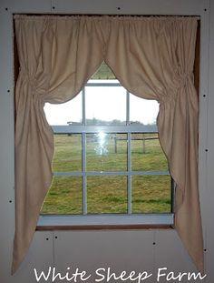 Primitive Prairie Curtain tutorial