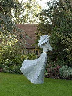 "Gale Force Nun II - Philip Jackson  Bronze Edition : 8 Height : 185 cm / 74"" Width : 116 cm / 46"" Depth : 119 cm / 47"""
