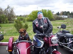 Two members of Bikers Against Child Abuse ready to roll to support, empower and protect a victim of child abuse.