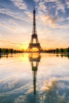 Superior Luxury — lsleofskye:   Sunrise on Eiffel Tower Mirrored