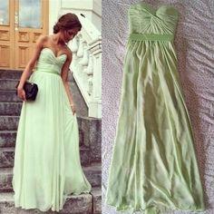 New arriival A-line Sweetheart Floor-length Chiffon Long Bridesmaid Dress Prom Dress Evening Dresses 2013 with Beading cheap dress