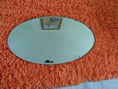 Antique Mirror oval 1930 s.