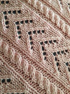 Little Girl Pink Knitted Baby Blanket by Marlaine DesChamps