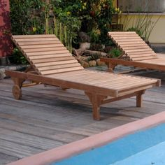 """This classic sun lounger is made from teak wood which is very durable and excellent for outdoor furniture.Most popular piece, the Sun Loungerhas been called by some, """"The most comfortable Sun Lounger they have ever relaxed in"""". Perfect for poolside reading in the sun.The convenient drawer-type drink trays, add an added degree of comfort. When not in use, they conveniently slide back into the Sun Lounger. This Sun Lounger adjusts to four different positions, including completely f..."""