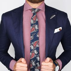 The Blue & red paisley tie over the new Crimson gingham shirt   www.Grandfrank.com