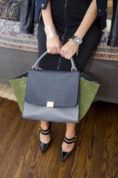 1b97b72918 Celine bag   Jimmy Choo strappy heels Celine Trapeze Bag