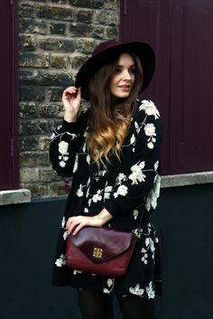 winter florals (and black with burgundy)