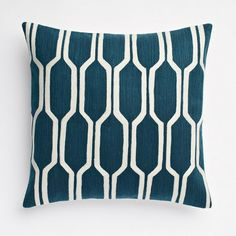 Honeycomb Crewel Pillow Cover - Blue Lagoon  ($44.00)