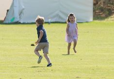 Princess Charlotte Goofs Off While Prince William Plays Polo | PEOPLE.com
