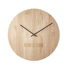 Look what I found at UncommonGoods: Now is the Time Clock for $65.00