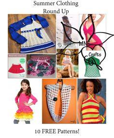 MNE Crafts: Summer Clothing Round Up - 10 Free Patterns